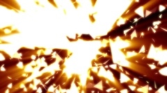 Swirling Glowing Triangles Angular Particles Chaotic Motion Background Loop Stock Footage