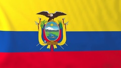 Flag of Ecuador waving in the wind, seemless loop animation Stock Footage