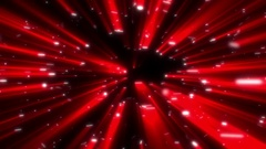 Red Swirling Shine Rays Particles Spheres Abstract Motion Background Loop Stock Footage