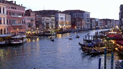 BOATS PASSENGER FERRIES GRAND CANAL VENICE ITALY Stock Footage