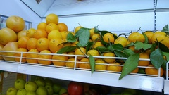 Fresh organic fruits from farmers to supermarkets on the shelves. healthy eating Stock Footage