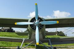 Aviation equipment in the open air Stock Photos
