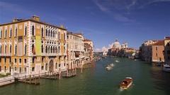 BOATS GRAND CANAL BASILICA VENICE VENEZIA ITALY Stock Footage