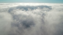Clouds Aerial Time Lapse shot of marine layer Stock Footage