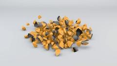 Falling Black and Orange Sphere Stock Footage
