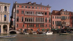 WATER TAXI BOATS RIALTO GRAND CANAL VENICE ITALY Stock Footage