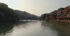 Fenghuang Ancient Town Stock Footage