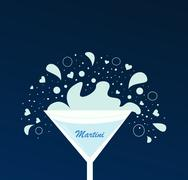 NEW ART IN SHOP : Hand-drawn Martini Glass Stock Illustration