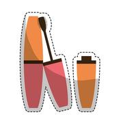 Makeup and cosmetic design Stock Illustration