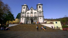 OUR LADY OF THE MOUNTAIN CHURCH FUNCHAL MADEIRA Stock Footage