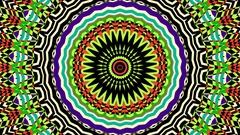 Shape Animation Kaleidoscope Transition On Alpha Stock Footage