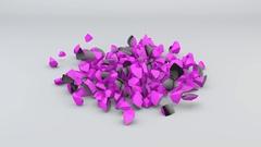 Falling Black and Purple Sphere Stock Footage