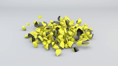 Falling Black and Yellow Sphere Stock Footage