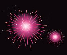 New in Shop : cute stylish Fire Works Stock Illustration