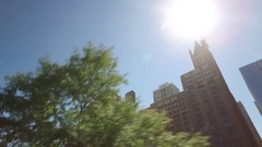 Tracking shot displaying buildings in midtown Chicago. Stock Footage