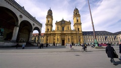 THE THEATINE CHURCH OF ST. CAJETAN MUNICH GERMANY Stock Footage