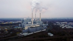 Combined heat and power plant Stock Footage