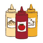 Sauce bottle icon Stock Illustration