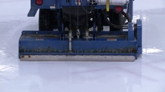 A zamboni machine in closeup action Stock Footage