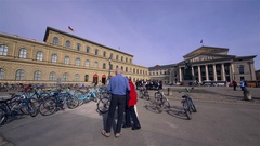 NATIONAL THEATRE KONIGSBAU MAX-JOSEPH-PLATZ MUNICH Stock Footage