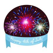 Happy 4th of July, Independence Day Vector Design, usa Stock Illustration