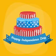Happy fourth of july, Independence Day Vector Design illustraion Stock Illustration