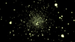 Stars Particles Globes Flying Starfield Motion Background Loop Stock Footage