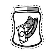 Money saving glass shadow Stock Illustration