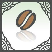 Vector outline coffee bean icon. Modern infographic logo and pictogram. Stock Illustration