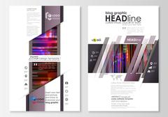 Blog graphic business templates. Page website design template, abstract vector Stock Illustration