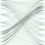 Abstract black waves and lines. Gray color chaotic, random, messy curves, swirl Stock Illustration