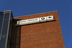 BMW group company logo on Czech headquarters building Stock Photos