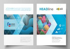 Business templates for brochure, magazine, flyer, booklet or annual report Stock Illustration