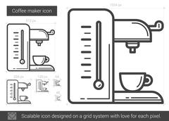 Coffee maker line icon Stock Illustration