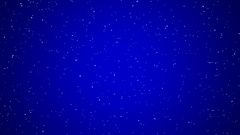 Holiday Snowfall on Blue, Small Stock Footage