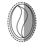 Isolated coffee bean design Stock Illustration