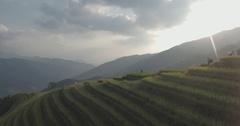 Longji Rice Terrace in Ping An Village Stock Footage
