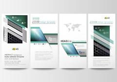 Flyers set, modern banners. Business templates. Cover design template, easy Stock Illustration