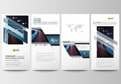 Flyers set, modern banners. Business templates. Cover template, easy editable Stock Illustration