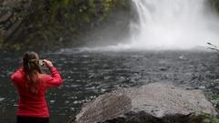 Toketee Falls Douglas County Oregon Stock Footage