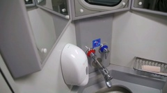 Toilet in a Train Carriage Stock Footage