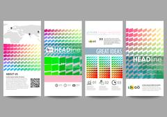 Flyers set, modern banners. Business templates. Cover design template, easy Piirros