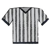 Drawing jersey referee american football Stock Illustration