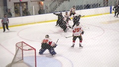 Goalie makes a few nice saves Stock Footage
