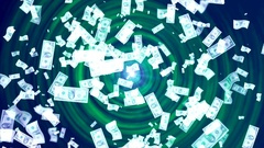 Money Rain. Abstract Loopable Background Stock Footage