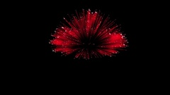 Spectacular Fireworks show, red linear fireworks, multiple lines Full HD Ver. 6 Stock Footage