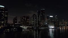 Aerial Brickell Miami 4k Stock Footage