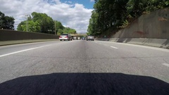 Two lane highway time-lapse Stock Footage