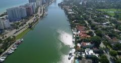 Helicopter tour over Miami Beach 4k 60p Stock Footage