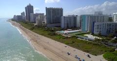 Aerial Miami Beach erosion 4k 60p Stock Footage